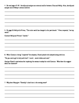 Orphan Train Text Dependent Questions