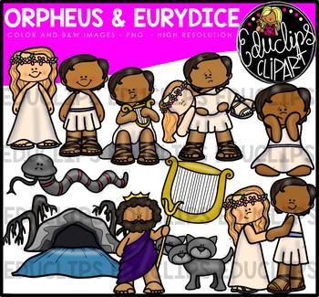 Orpheus and Eurydice - Greek Myth Clip Art Bundle {Educlips Clipart}