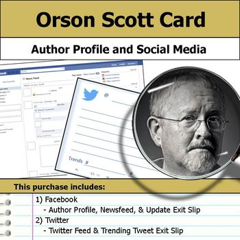 Orson Scott Card - Author Study - Profile and Social Media