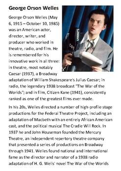 Orson Welles Handout