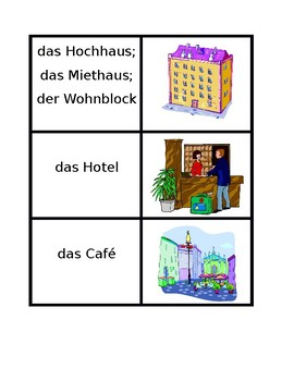 Orte (Places in German) Concentration games