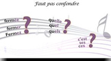 """French spelling and grammar in songs  : Orthochanson """"Faut"""