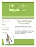 Orthopedic Impairment Brochure for Parents and Teachers