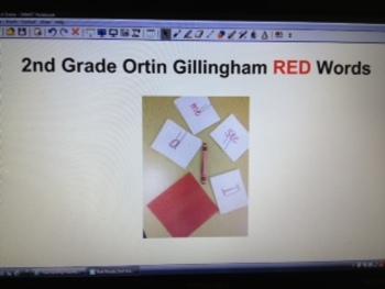 2nd Grade Orton Gillingham RED Word SmartBoard Slides
