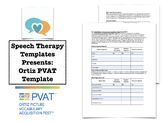 Ortiz PVAT Template | Speech Therapy Assessment