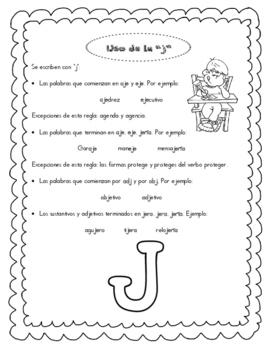 """Ortografia. El uso de la """"g"""" y """"j"""""""