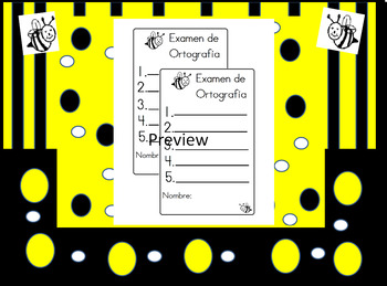 Ortografia Spelling Bee Test Format