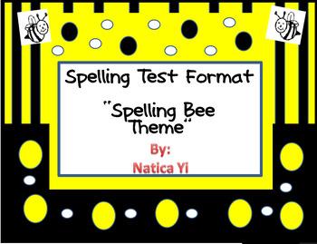 Ortografia Spelling Bee Test Sheet Format 10 Words