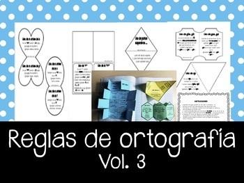REGLAS de Ortografía en Español Vol. 3 – Libro escalonado