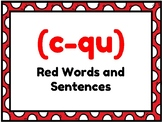 Orton Gillingham Red Words Display + Sentence