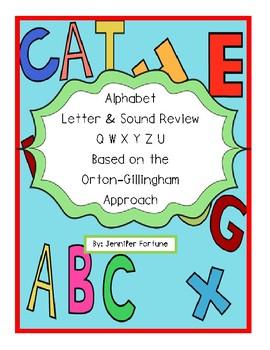 Orton Gilliganham Letter Practice for Q W X Y Z U