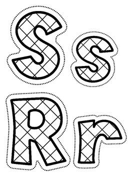 Orton Gilliganham Letter Practice for S R C K E