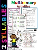 2 Syllable Words Worksheets Level 1 Unit 12