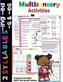 2 Syllable Word Work and -es Level 1 Unit 13 (Dyslexia/RTI)