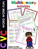 CVC Word Work (Dyslexia/RTI) Level 1 Unit 2