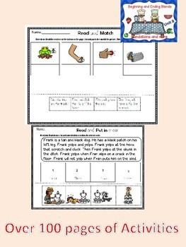 Orton-Gilligham Blends Decodable Stories and Activities Bundle ( Dyslexia/RTI)