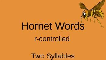 Orton Gilligham Two Syllable Hornet Words