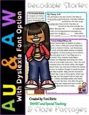 Orton-Gillingham AU & AW Decodable Stories Level 2 Unit 16