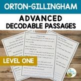 Orton-Gillingham Activities: ADVANCED Decodable Text Readi