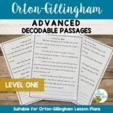 Orton-Gillingham Activities: ADVANCED Decodable Reading Pa