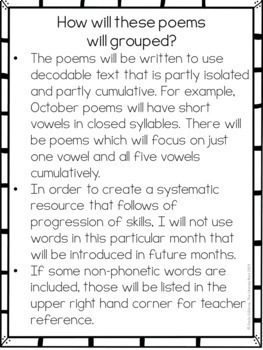 Orton-Gillingham Activities: Decodable Poetry for Fluency Practice