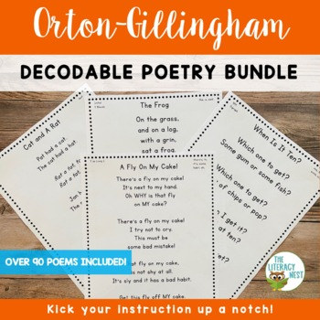 Orton-Gillingham Activities: Decodable Poetry for Fluency and Distance Learning