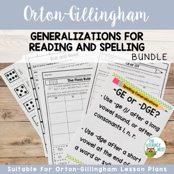 Orton-Gillingham Activities: Generalizations for Reading and Spelling