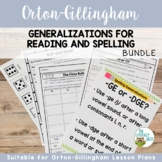 Orton-Gillingham Activities: Generalizations for Reading a