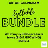 Orton-Gillingham Activities: SYLLABLE TYPE (GROWING) BUNDLE