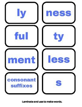 Orton-Gillingham Activities: Simple Suffixes