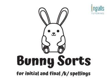 Orton-Gillingham Activities: Snowman Sorts for /k/ Spelling Generalizations
