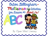 Orton Gillingham Activities for Lesson #1; Short /a/