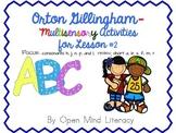 Orton Gillingham Activities for {consonants h, j, n, p, and l}