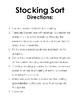 Orton-Gillingham Activity: Seasonal Stocking Sort for -ge/-dge Spellings