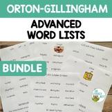 ADVANCED Word Lists & Sentences   Orton Gillingham Multise