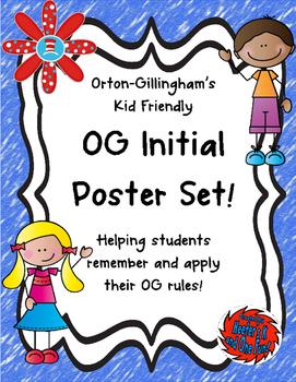 Orton Gillingham BIG Initial Poster Set!