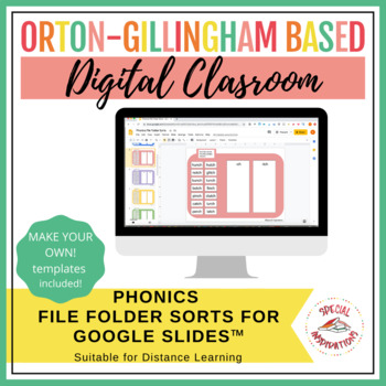 Orton-Gillingham Based Phonics File Folder Activities Bundle