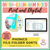 Orton-Gillingham Based Phonics File Folder Activities Bundle
