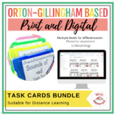 Orton-Gillingham Based Phonics, Reading, and Spelling Task Boxes Bundle