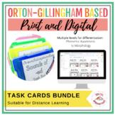 Orton-Gillingham Based Task Cards Bundle | Print & Digital