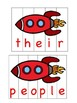 Orton-Gillingham Based Red Words Puzzles!