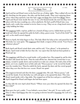 Orton-Gillingham Based Stories & Comprehension Sheets: Level Three Sample