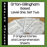 Orton-Gillingham Based Stories and Activities Level One, Set Two