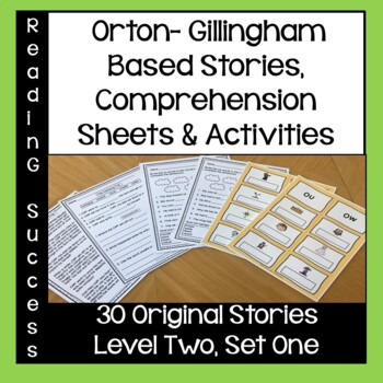 Orton-Gillingham Based Stories and Activities Level Two, Set One
