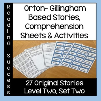 Orton-Gillingham Based Stories and Activities Level Two, Set Two
