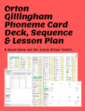 Orton Gillingham sequence, ALL phoneme card deck, and reproducible lesson plan