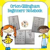 Orton-Gillingham Beginners' Phonics Notebook with Word Lists