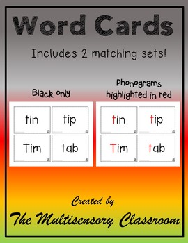 Orton-Gillingham Beginning Consonants Word Cards