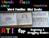 Orton Gillingham Blends Word Families mini-books Readers B