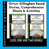 Orton-Gillingham Bundle: Decodable Stories, Comprehension Sheets  & Activities